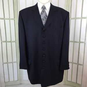 Stacy Adams Men's 7 Cloth Button Blue Size 50 Long